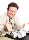Steuer-Buchhalter Giving Thumbs Up Stockfoto
