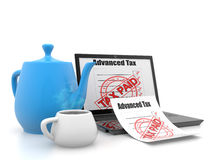 Steuer gezahlt stockbild