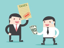 Steuer gezahlt Lizenzfreies Stockbild