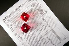 Steuer-Glücksspiel lizenzfreies stockfoto