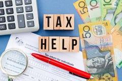 Steuer-Hilfe - Australien Lizenzfreies Stockbild