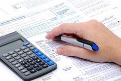 Steuer-Info Lizenzfreies Stockbild