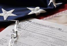Steuer-Jahreszeit Stockfotos