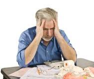 Steuer-Kopfschmerzen Lizenzfreie Stockfotos