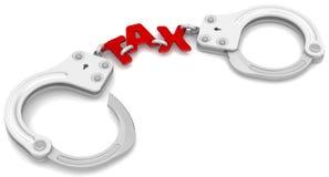 Steuer mögen Fesseln stock abbildung