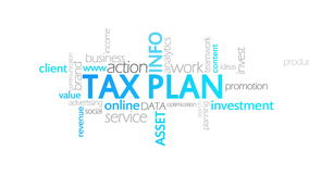 Steuer-Plan, lebhafte Typografie vektor abbildung