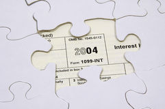 Steuer-Puzzlespiel 2 lizenzfreie stockbilder