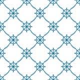 Steuer-Räder und Seil-nahtloses Muster vektor abbildung