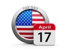 Steuer-Tag USA lizenzfreie abbildung