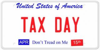 Steuer-Tageskfz-kennzeichen vektor abbildung