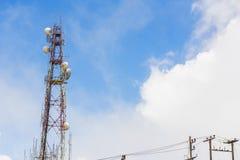 Steuer-und Berichts-Mitte Doi Inthanon mit Radarstation, Chiang Mai, Thailand Lizenzfreies Stockbild
