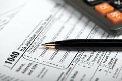 Steuer-Zeit Lizenzfreies Stockbild