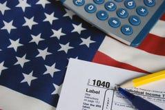 Steuer-Zeit Lizenzfreies Stockfoto