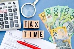 Steuer zeit- Australien Stockbild