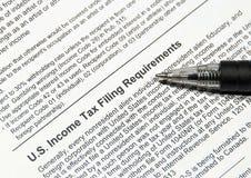 Steuerarchivierungsanforderungen Stockbilder