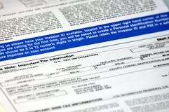 Steuerdokument stockfotografie