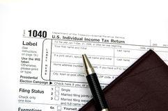 Steuererklärung Lizenzfreie Stockbilder