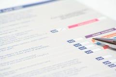 Steuererklärung Stockbilder