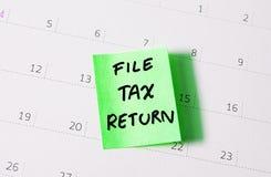Steuererklärung Stockfotografie