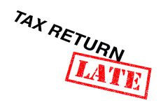 Steuererklärung spät stockbilder