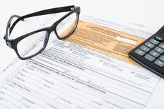 Steuererklärungsgrube Lizenzfreies Stockbild