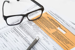 Steuererklärungsgrube Lizenzfreies Stockfoto