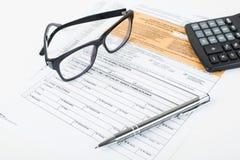Steuererklärungsgrube Lizenzfreie Stockbilder