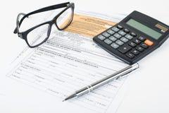 Steuererklärungsgrube Stockfotografie