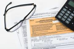 Steuererklärungsgrube Lizenzfreie Stockfotografie