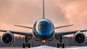 Steuerfestsetzung Boeings 787-9 Dreamliner Japan Airlines Stockbild