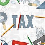 Steuerfinanzgeschäftshintergrund Lizenzfreies Stockfoto