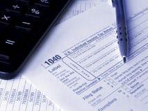 Steuerformular 1040 Lizenzfreie Stockbilder