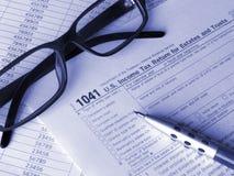 Steuerformular 1041 lizenzfreies stockbild