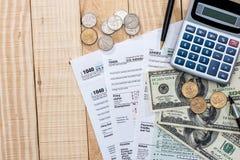 Steuerformular 1040 Lizenzfreies Stockbild