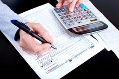 Steuerformular Stockfoto