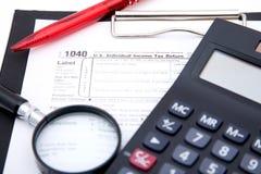 Steuerformular Lizenzfreies Stockfoto