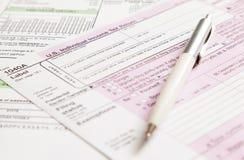 Steuerformular Stockfotos