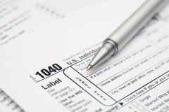 1040 Steuerformular Lizenzfreies Stockfoto