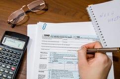 1040 Steuerformular Lizenzfreies Stockbild