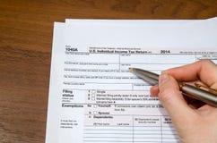 1040 Steuerformular Stockfoto
