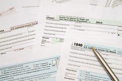 Steuerformular 1040 Lizenzfreie Stockfotografie