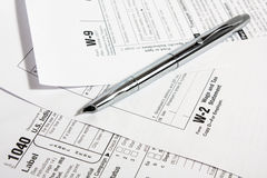 Steuerformulare Stockfotos