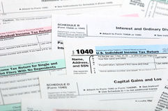 Steuerformulare. Lizenzfreie Stockfotografie