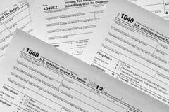 Steuerformulare Stockbilder