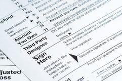 1040 Steuerformulare Lizenzfreies Stockbild