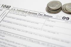 Steuerformulare als Finanzkonzept Stockfoto