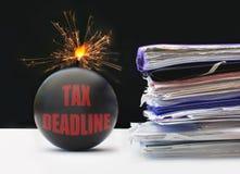 Steuerfrist stockbild