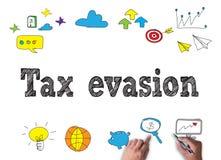 Steuerhinterziehung lizenzfreies stockbild
