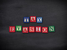 Steuerhinterziehung Stockfoto
