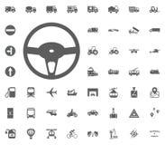 Steuerikone Gesetzte Ikonen des Transportes und der Logistik Gesetzte Ikonen des Transportes Stockfotografie
